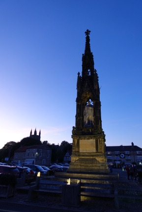 The Grade II listed monument to the second Baron Feversham in Helmsley market square