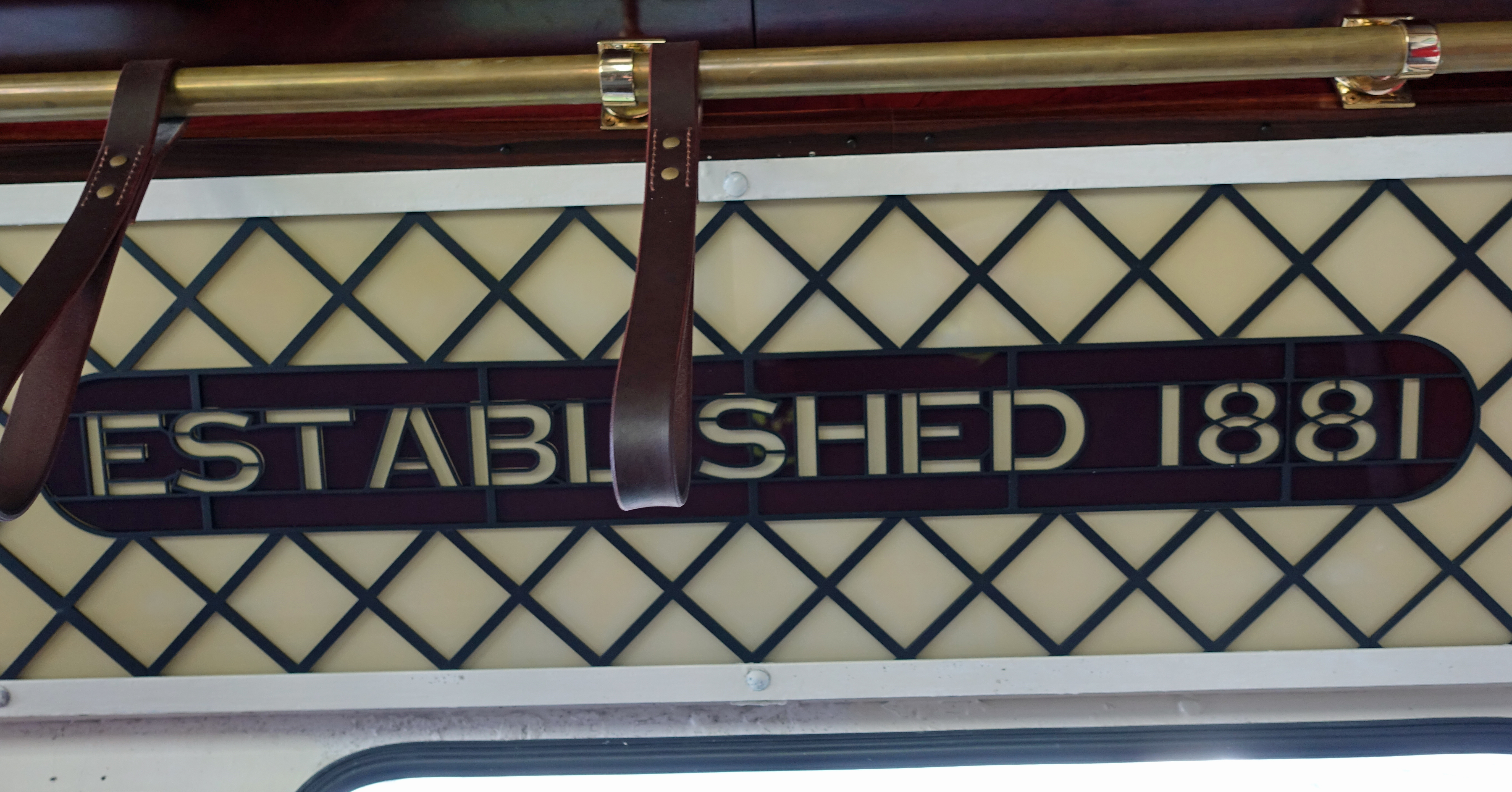 Art deco decoration in 1932 the replacement cars on the Central Tramway