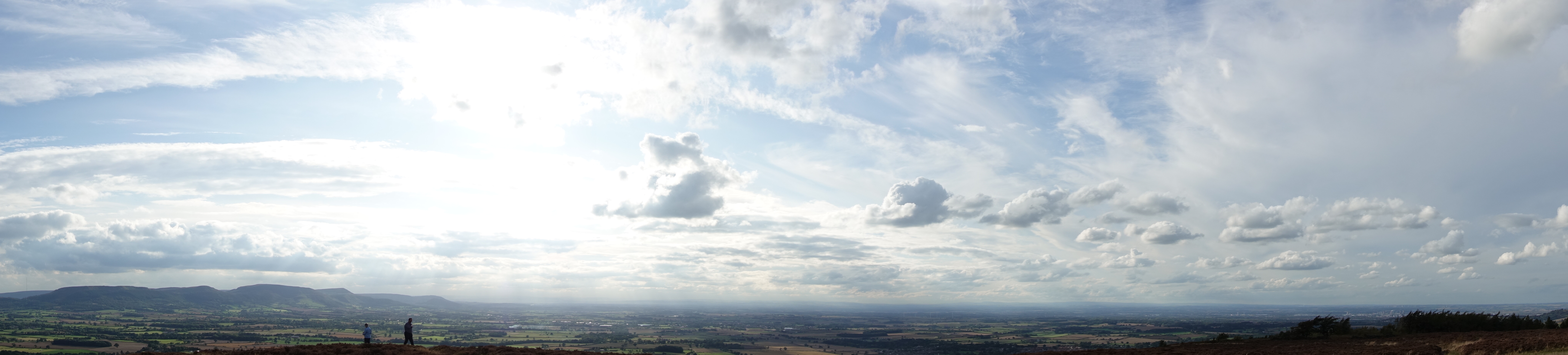 View from the western edge of the North York Moors across the plains to the Pennines