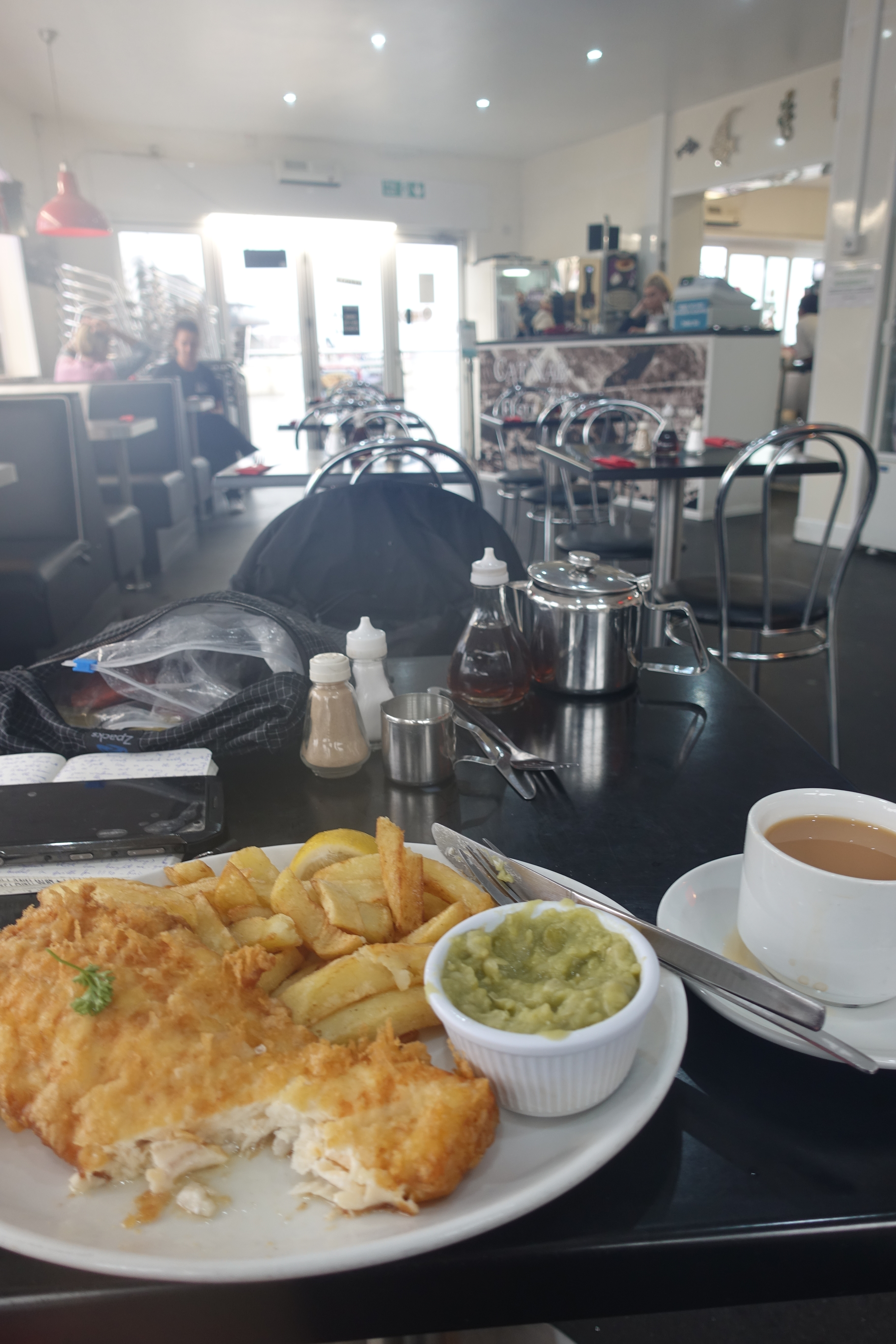 Excellent haddock and chips are to be had in Saltburn-by-the-Sea