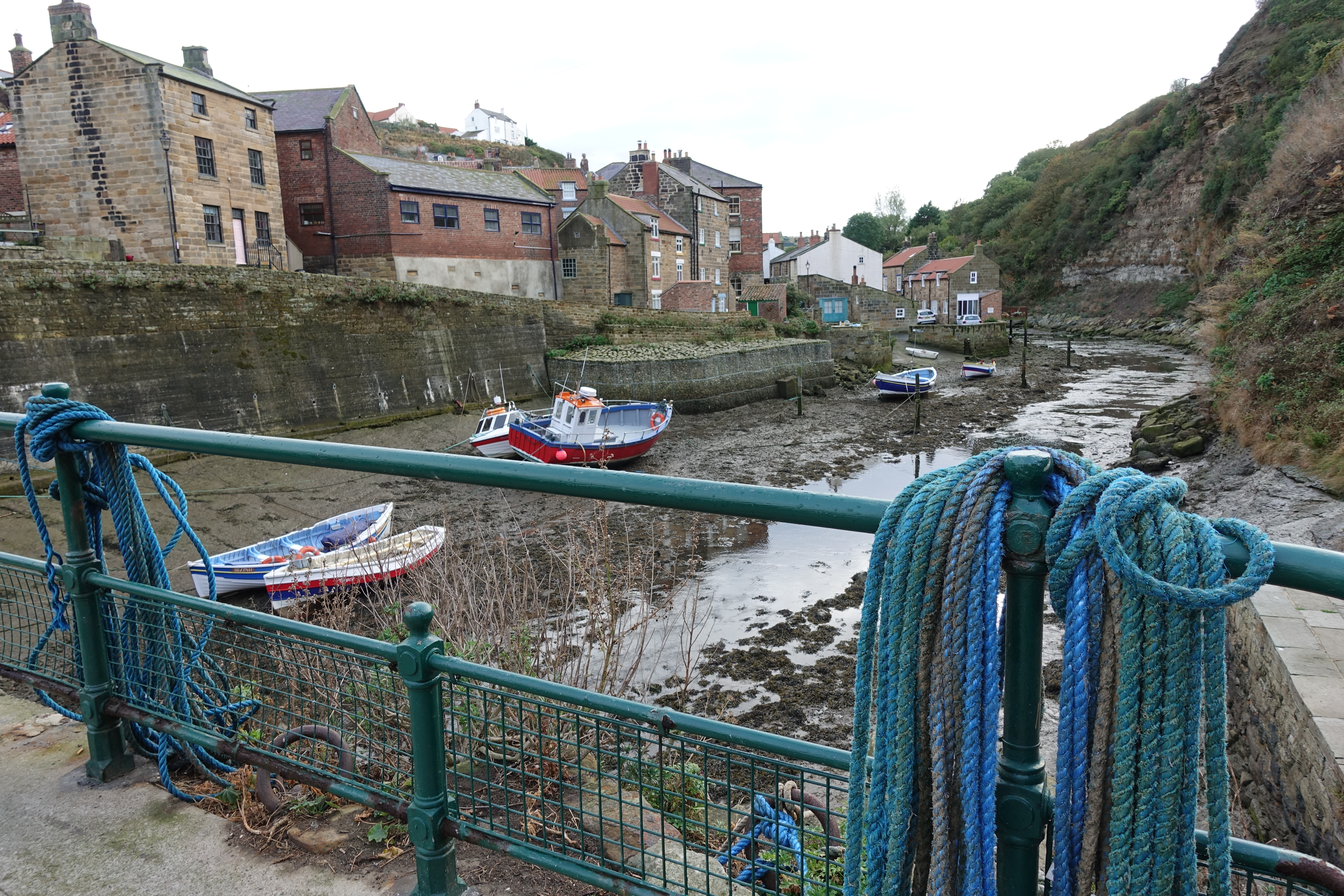 Staithes is reached on the first day of the coastal section of the Cleveland Way