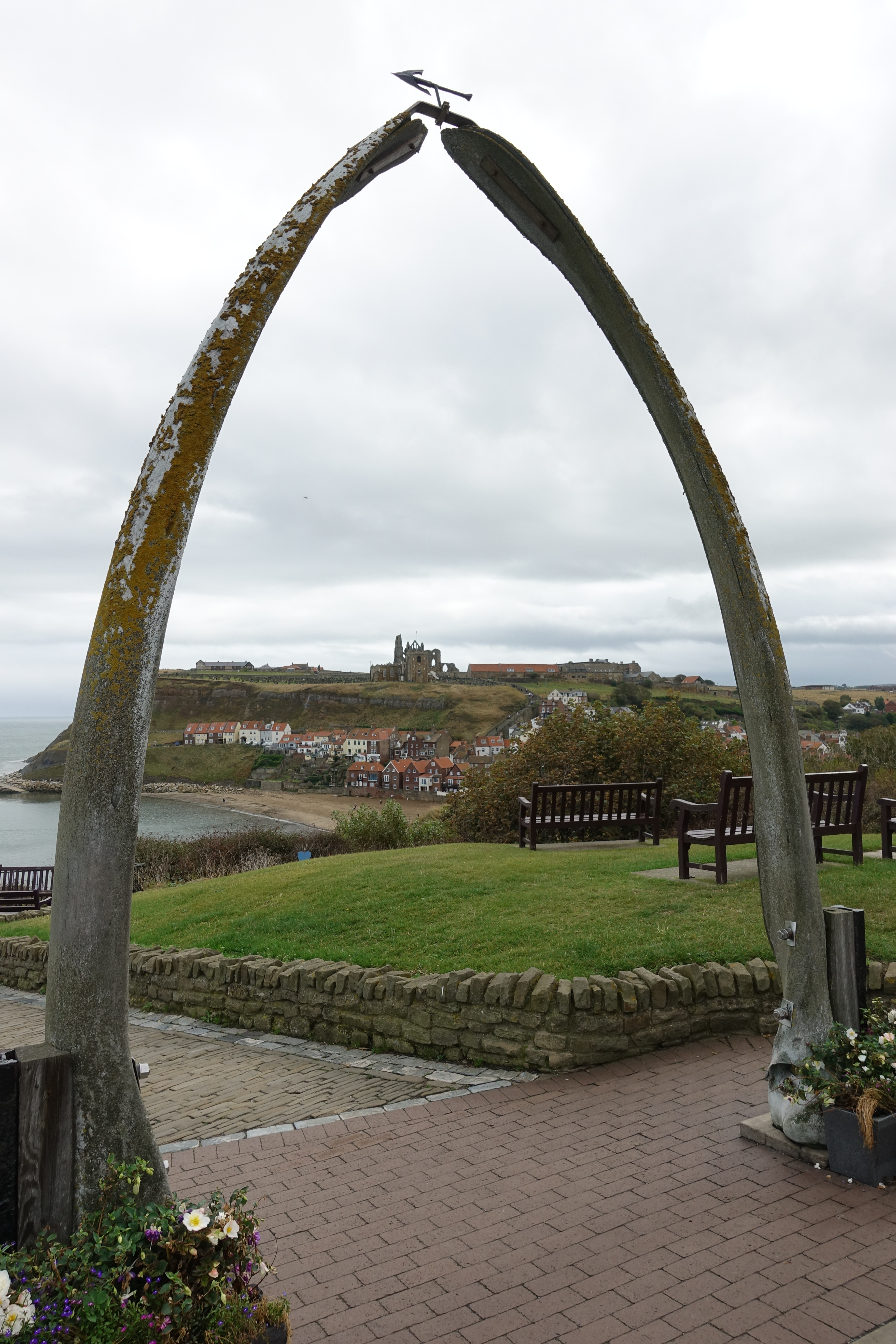 19 foot tall Whalebone Arch framed my arrival at Whitby