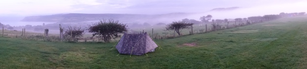 Farm pitch gave a view over Robin Hoods Bay