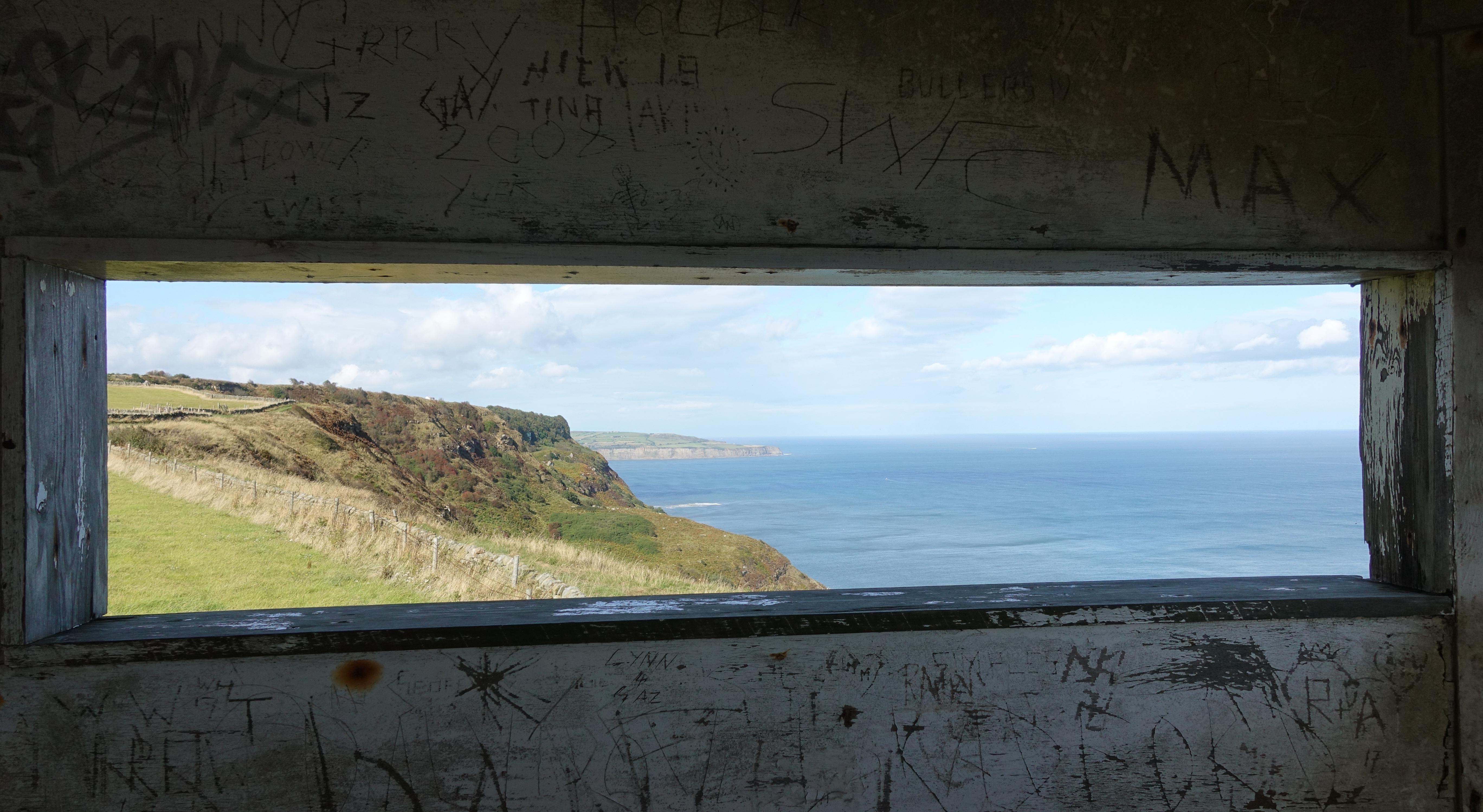 Visiting the disused Coastguard Lookout station near the World War II Ravenscar Radar Station