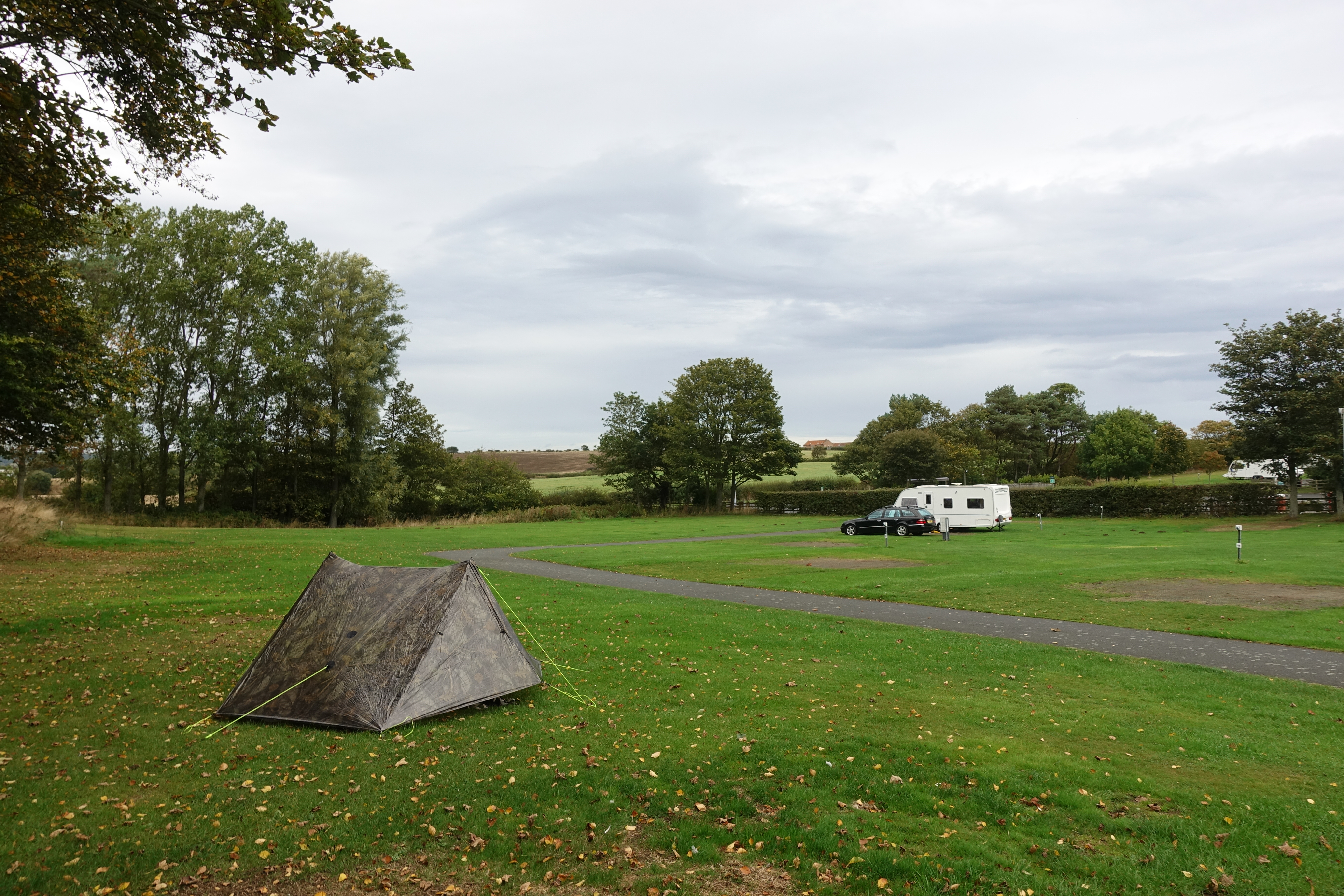 Pitched at Scalby Mills Camping & Caravanning site