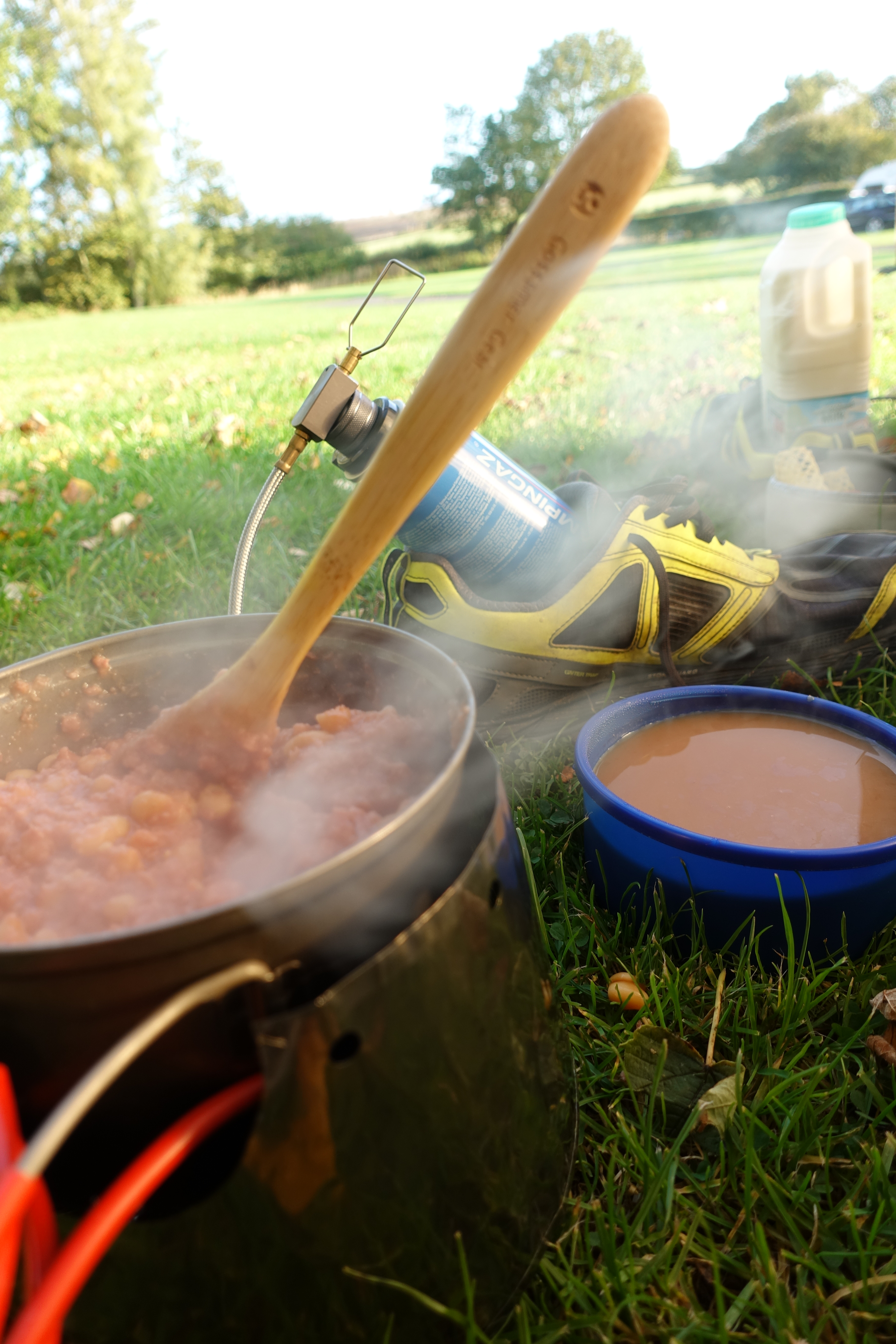 Breakfast on the final day on the Cleveland Way