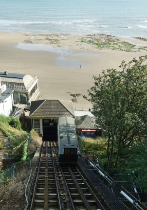 Funicular railway at Scarborough