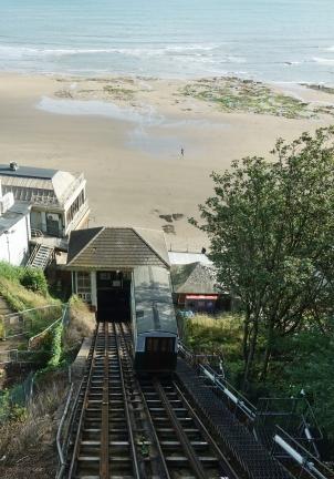 Funicular railway at Scarborough