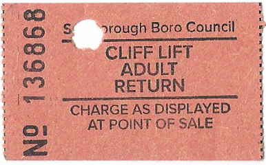 South Cliff Lift funicular railway ticket