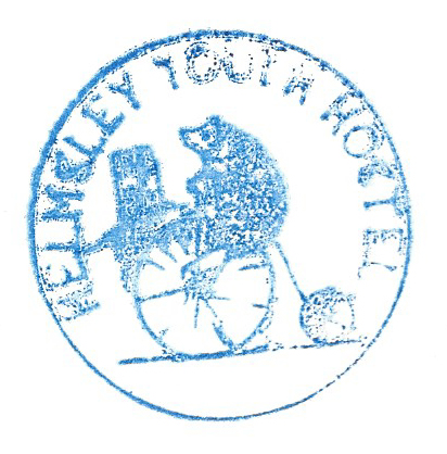 Helmsley YHA handstamp impression from my trail journal