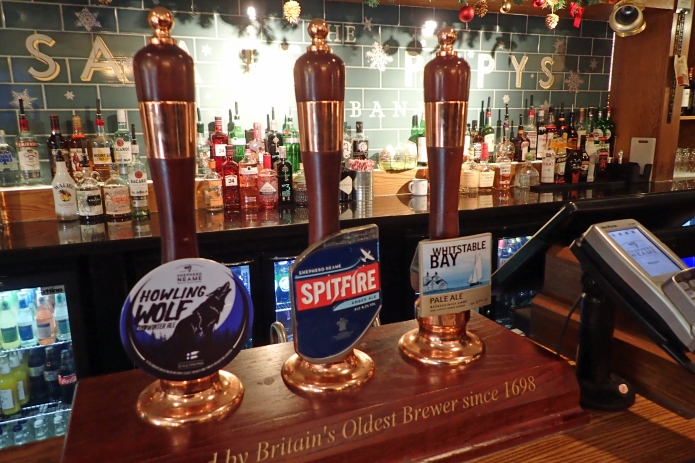 Out first choice of cask beers in the Samuel Pepys