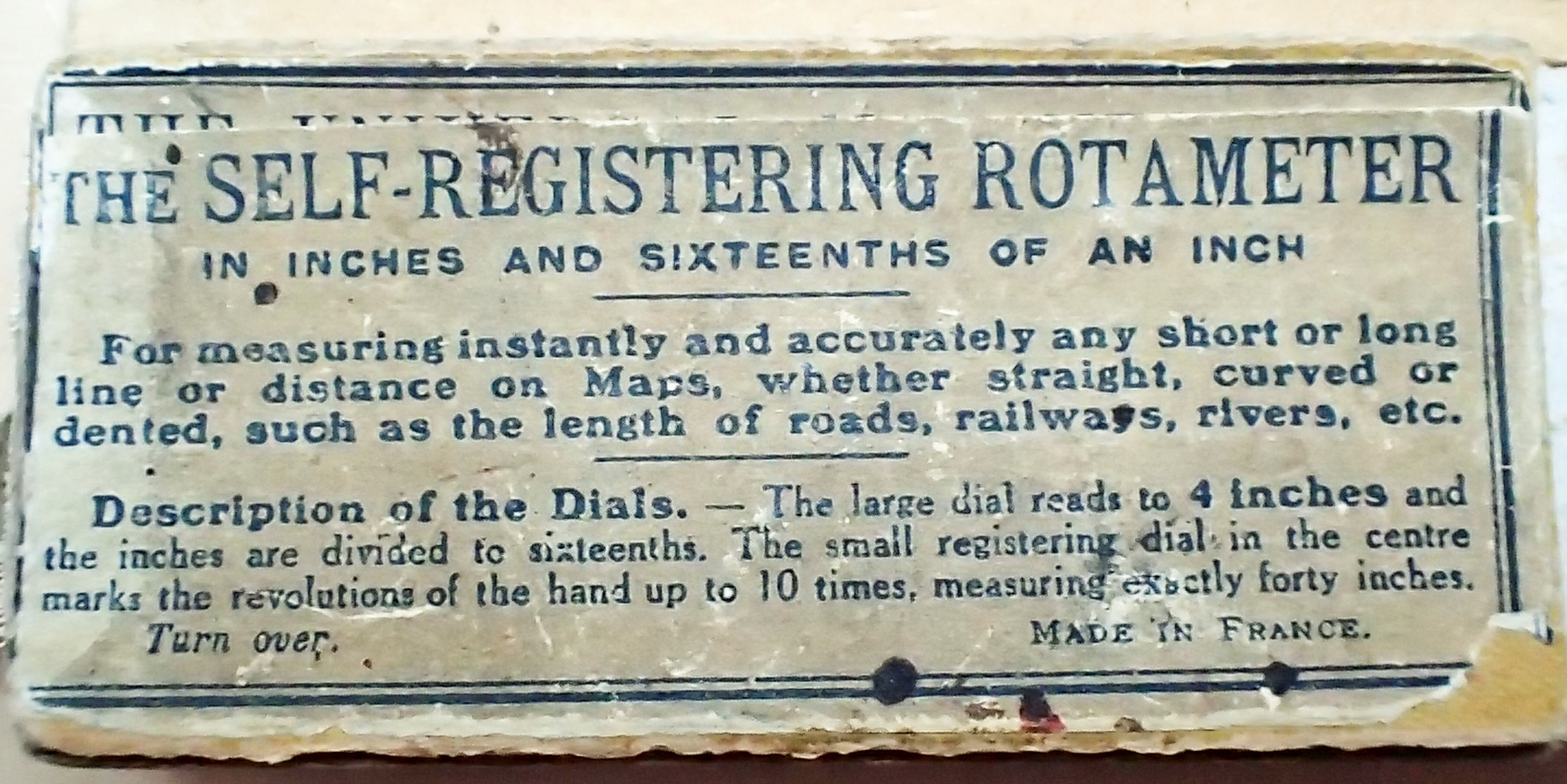 Box for 'Self-Registering Rotameter', giving detail on how to use