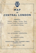 Map to central London produced by the Automobile Association, circa 1935