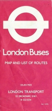 Free map of London showing maps and routes across both Greater and Central London. April 1976