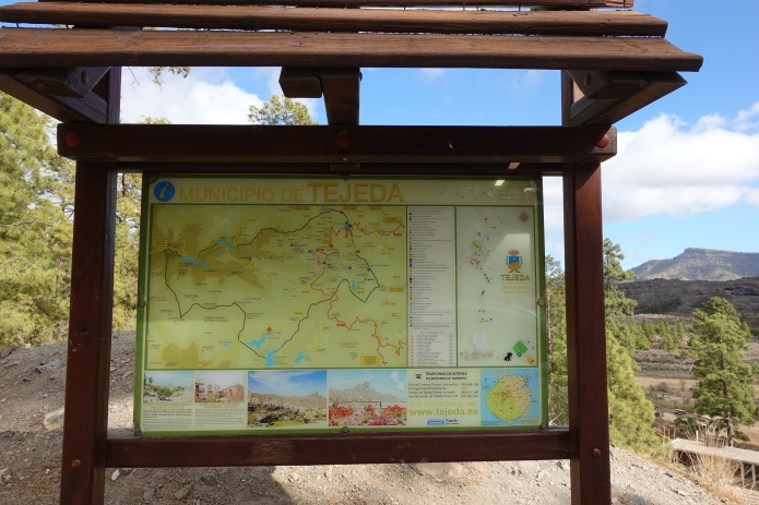 There are a wealth of hiking trails across Gran Canaria, boards showing many of these can be found adjacent to many of the state provided camp sites and picnic areas