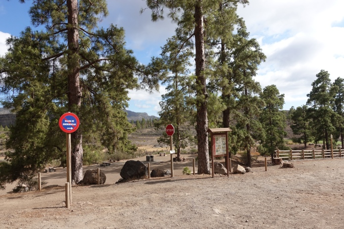 official campsite, closed due to recent fires