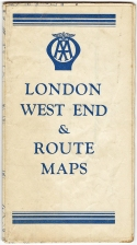 Map showing the London West End & routes into London. Printed by John Bartholomew & Son, Edinburgh, circa 1954