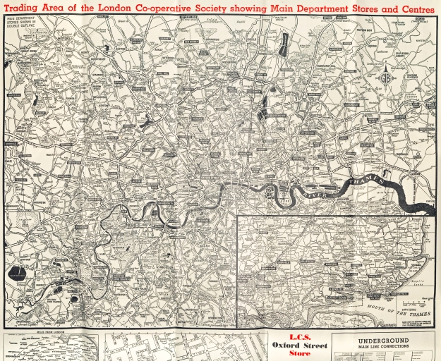 Trading map of the London Co-operative Society. c1960