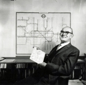 Harry Beck, the map responsible for the radical redesign of the London Tube map
