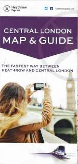 Central London map and guide produced by Heathrow Express and available to the public free of charge