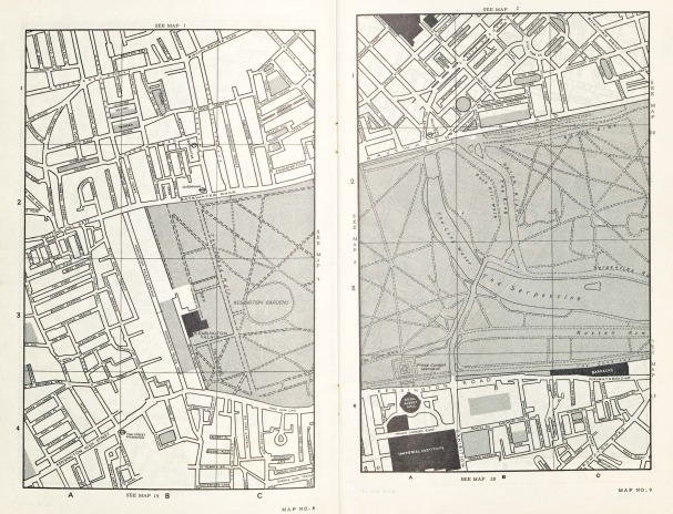 Maps 8 and 9 in the free London street atlas provided by Hermetite in 1961
