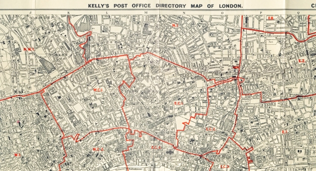 Section from a 1968 map prepared by Kellys.