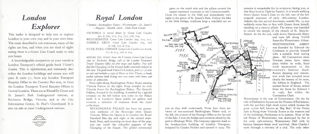 Free leaflet detailing a walk through just a part of 'Royal London'. Printed June 1965
