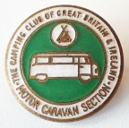 Enamel badge for members of the Motor Caravan Section of the Camping Club
