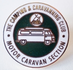 Enamel badge for members of the Motor Caravan Section, this badge reflects the change in name of the Camping and Caravanning Club