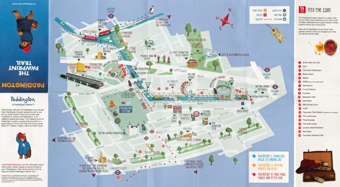 The simple map provided for the 2018 Pawprint Trail is barely adequate, but it is a simple walk with few opportunities to get lost so just about suffices. With a family audience in mind, the designer has included toilets, parks, play areas and picnic spots