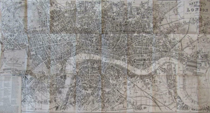 Map of London for visitors to the Great Exhibition, 1851. Prepared by J. Reynolds, 174 The Strand