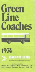 Free London map from Green Line Coaches, 1974