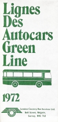 Free London map from Green Line Coaches produced for French visitors, 1972