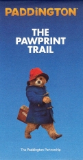 Small leaflet with map produced by the Paddington Partnership for the Paddington Pawprint Trail in 2018. Just the right size for a child's hands