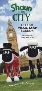 Shaun in the City sculpture trail map, produced and issued free in 2015