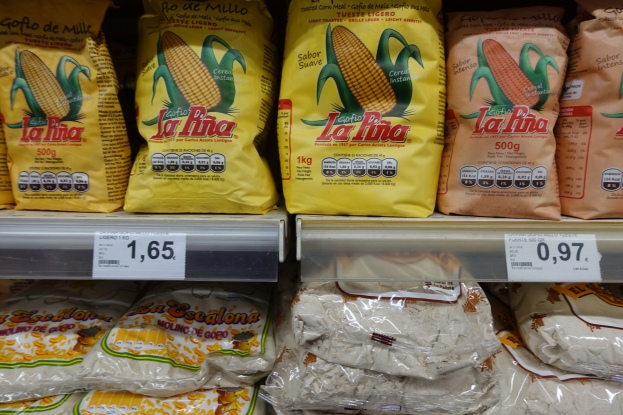 Tenerife: Nov - Dec 2018 Gofio on the supermarket shelves