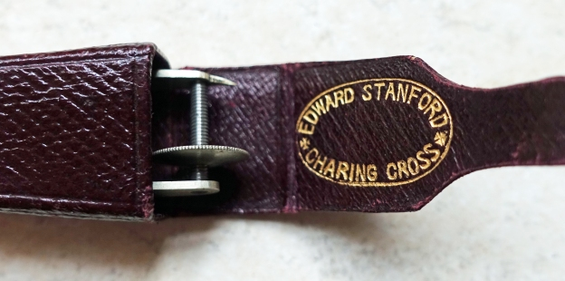 Opisometer in case stamped Edward Stanford Charing Cross
