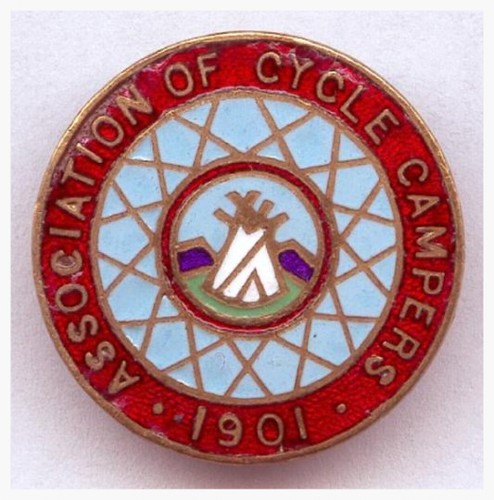 An early club badge. Enamel membership badges were introduced when membership exceeded 200