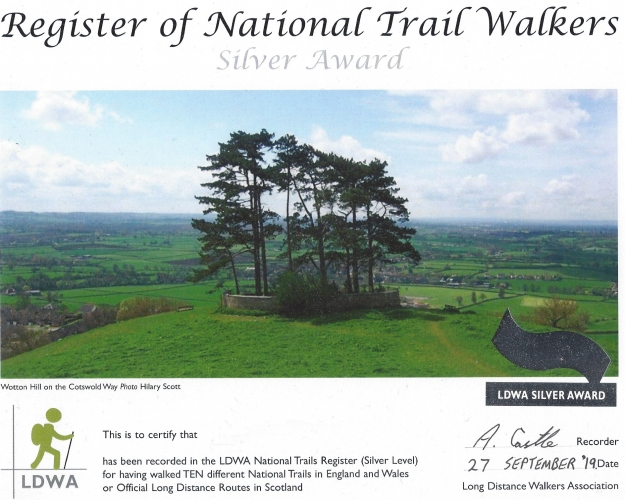 Ten of the 'National Trails' completed so far, along with dozens of others