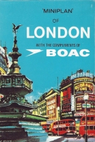 Free map provided to airline passengers by BOAC. Produced by Miniplans Ltd. 1960