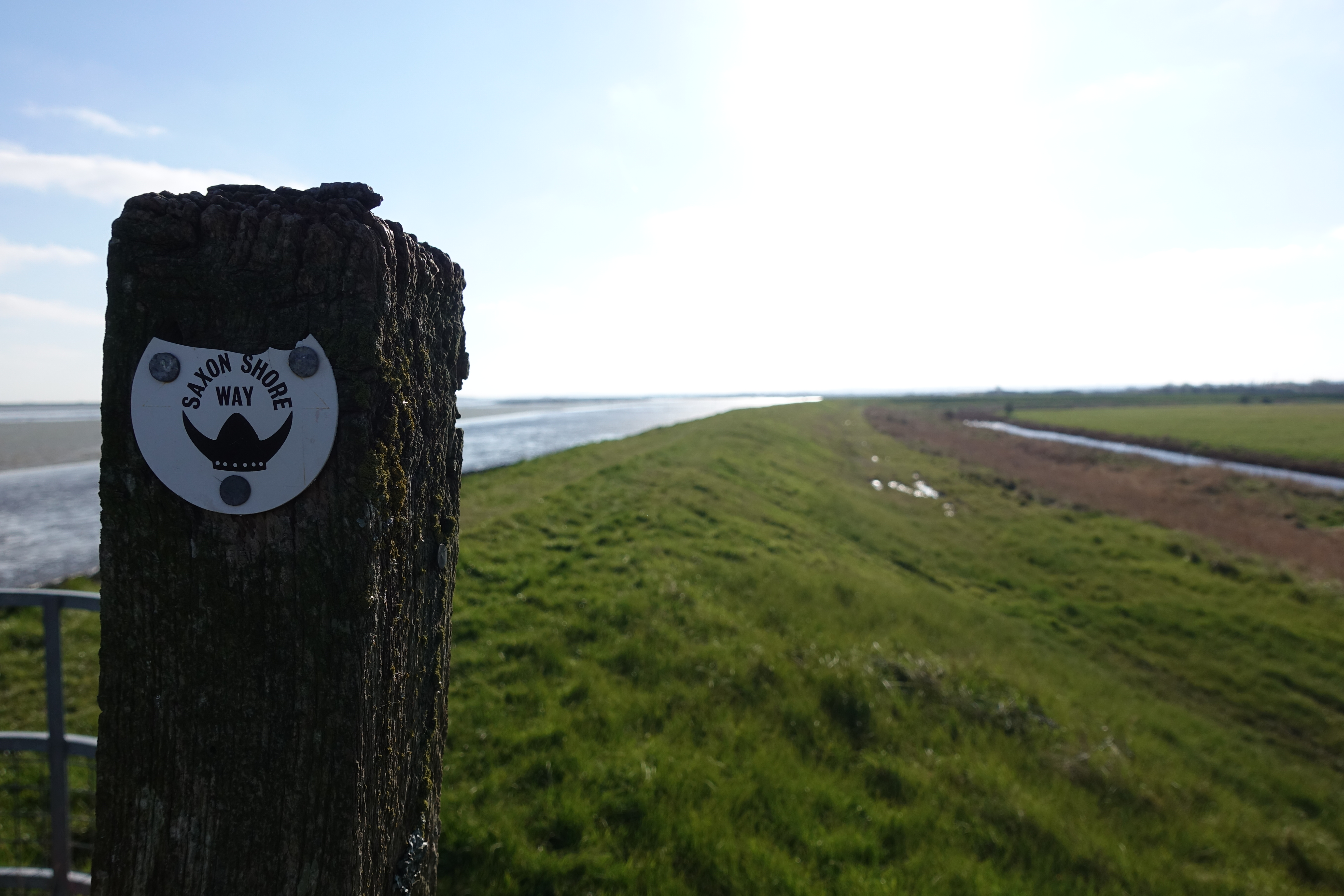 Today's walk would follow the Saxon Shore Way on the seawall between two once thriving North Kent towns