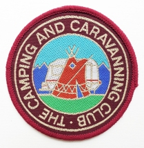 Cloth badge of the Camping and Caravanning Club