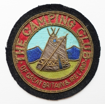Cloth badge for the oldest Camping Club in the World