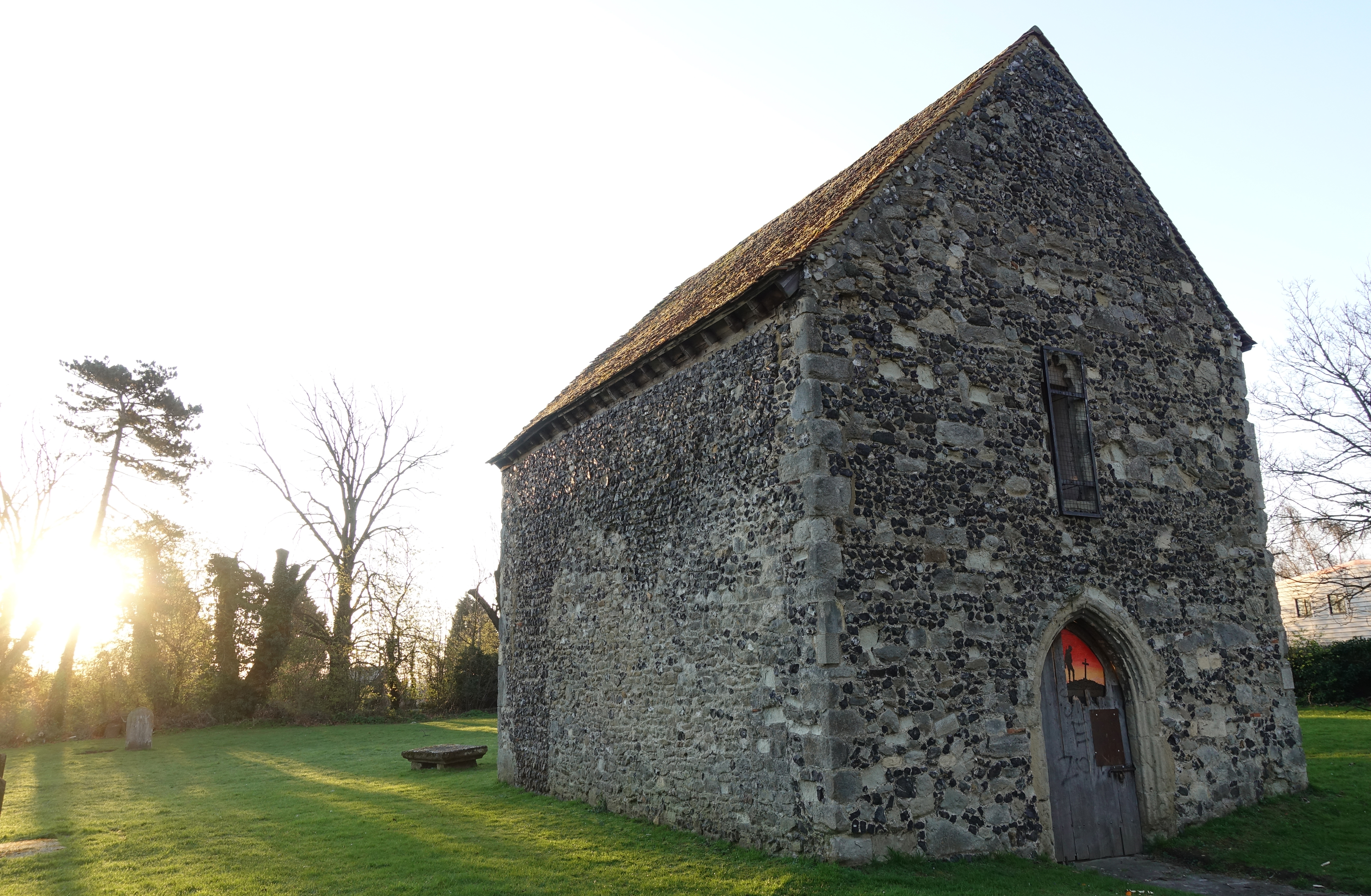After a long walk through abandoned Sittingbourne and its extensive Business Park, the first thing of any interest is Murston Old Church.