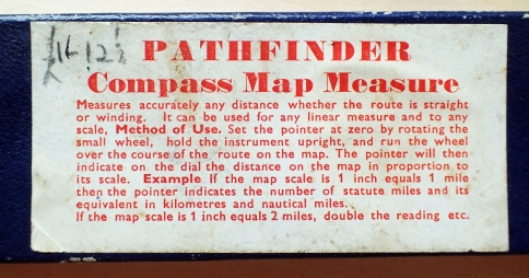 Box and instructions for the basic Pathfinder map measure and compass