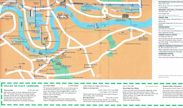 Detail from East of London Visitors Guide. Try finding your way around Greenwich with this map and you would find it impossible