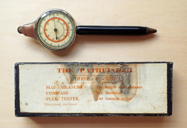 Pathfinder map measure and compass with spark plug tester