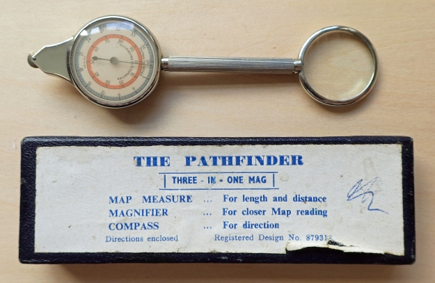 Pathfinder Three-in-One map measure with compass and magnifying glass