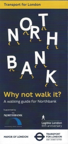 TfL guide to walking in the North Bank area of London, 2017