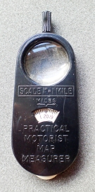 Front of 1959 Practical Motorist Map Measure- scale 1